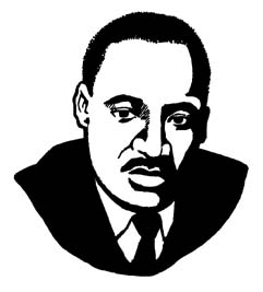241x267 Martin Luther King Jr Black And White Clipart