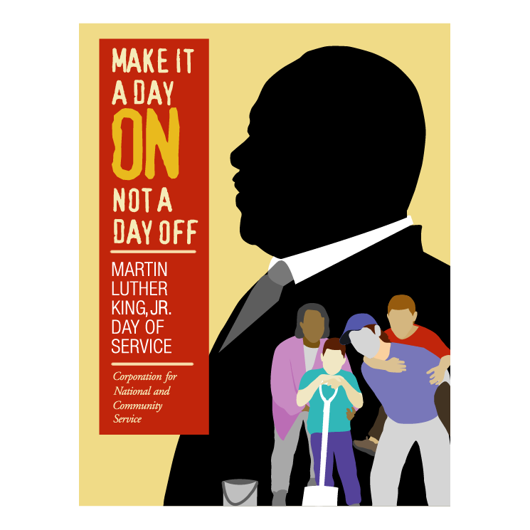 745x745 Martin Luther King Jr Day Of Service Free Vector 4vector