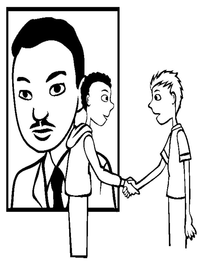 768x1024 Martin Luther King Day. Martin Luther King Coloring Page Portrait