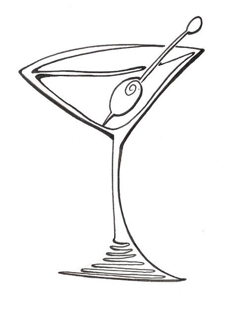 475x625 Cartoon Martini Glass Clipart Blog Line Art Ideas