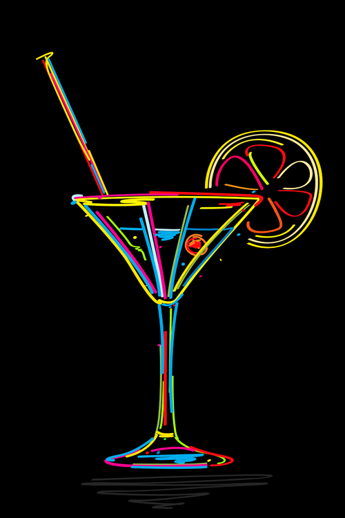 500x750 Delicate Martini Glass Vector 05