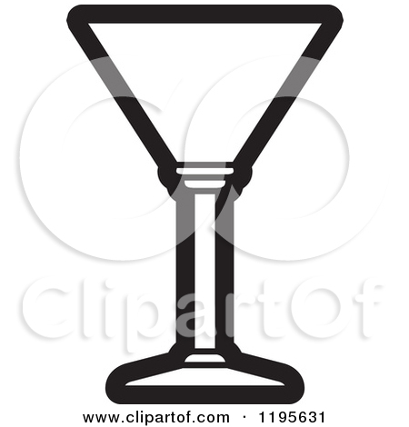 Martini Glass Clipart Black And White