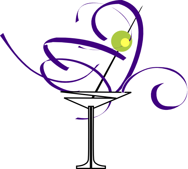 600x540 Purple Martini Glass Clip Art