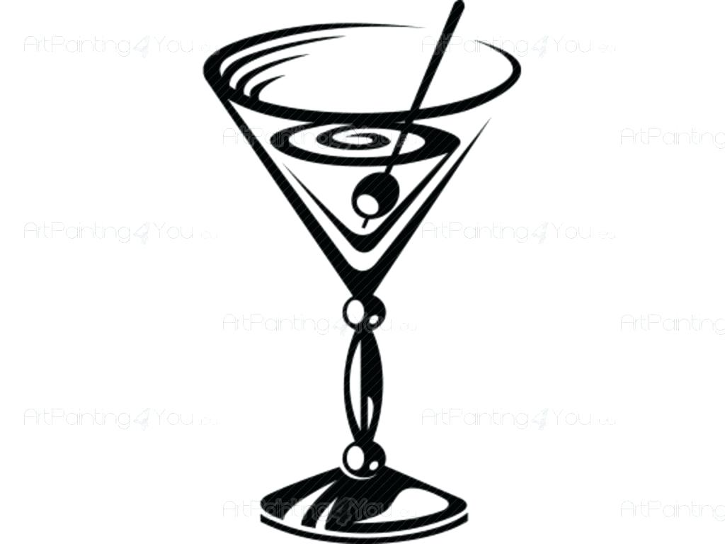 1024x768 [ Martini Shaker Drawing ] Art Deco Bristol Blue Martini