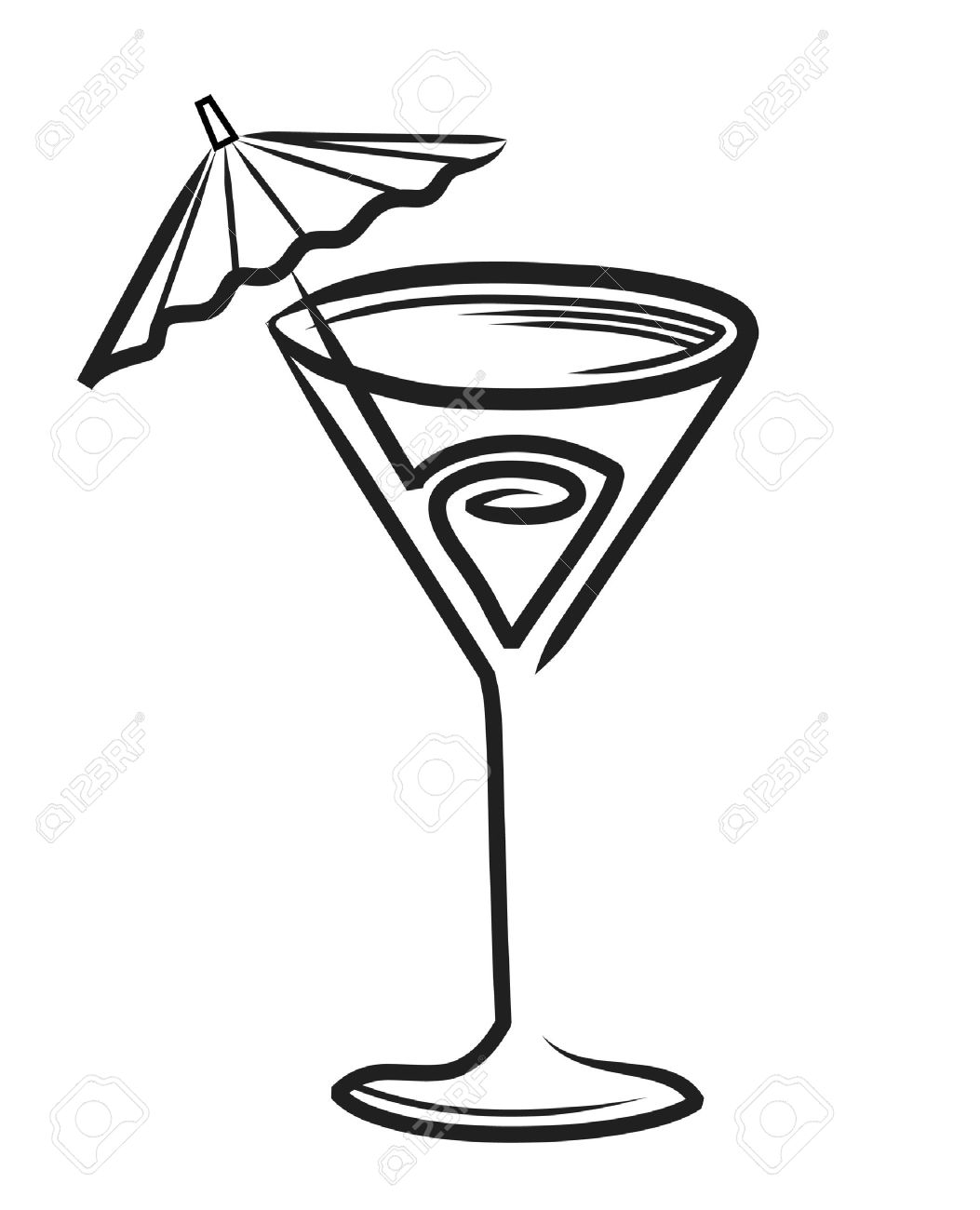 1053x1300 Drawn Cocktail Cocktail Glass