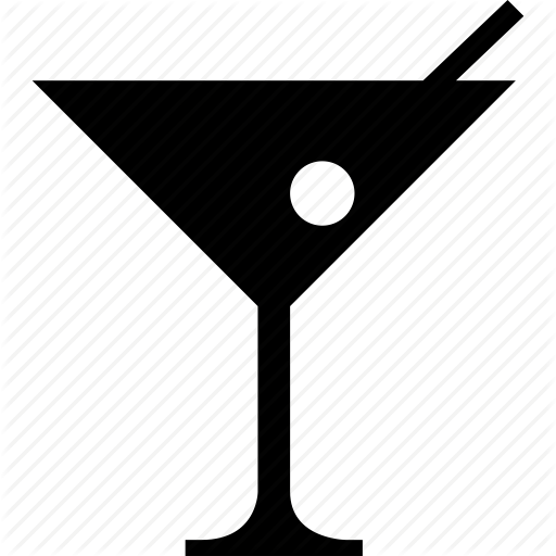 512x512 Alcohol, Cocktail, Glass, Martini, Martini Glass, Olive Icon