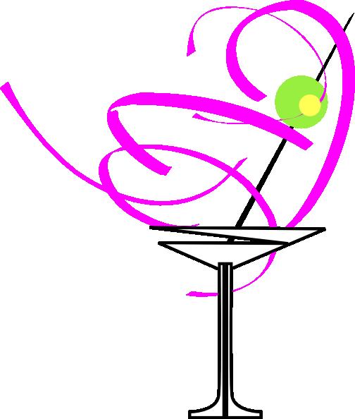 504x594 Martini Glass Pink Clip Art