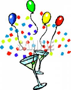 238x300 Art Image Colorful Balloons And Confetti With Martini Glasses