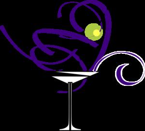 300x270 Purple Martini Glass Clip Art