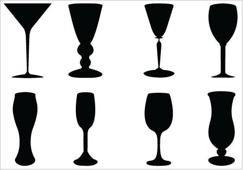 500x350 Wine Glass Outline Clip Art