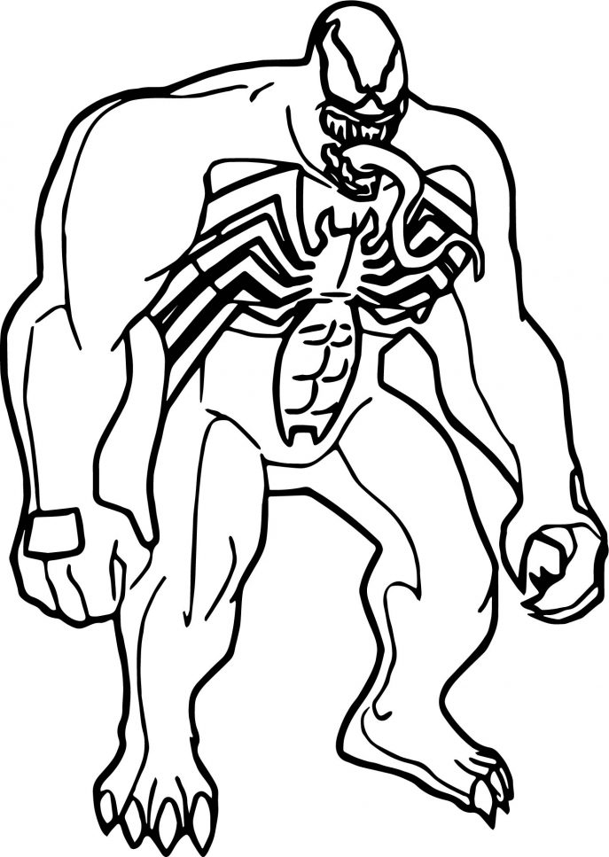 687x967 Coloring Pages Venom Coloring Pages Impressive Marvel