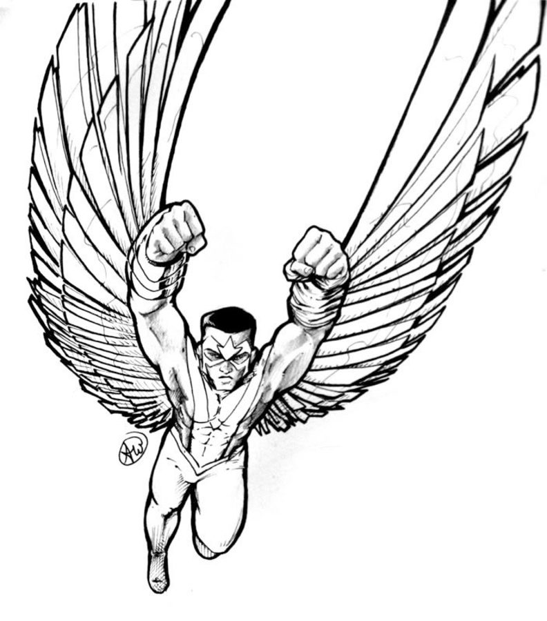 792x900 Coloring Pages Falcon, Printable For Kids Amp Adults, Free