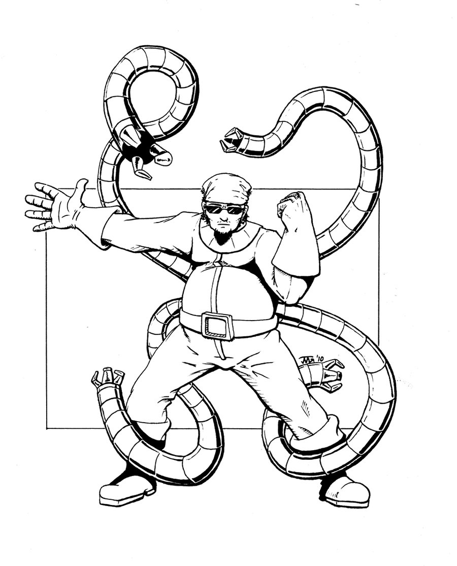 900x1114 Doctor Octopus Coloring Pages