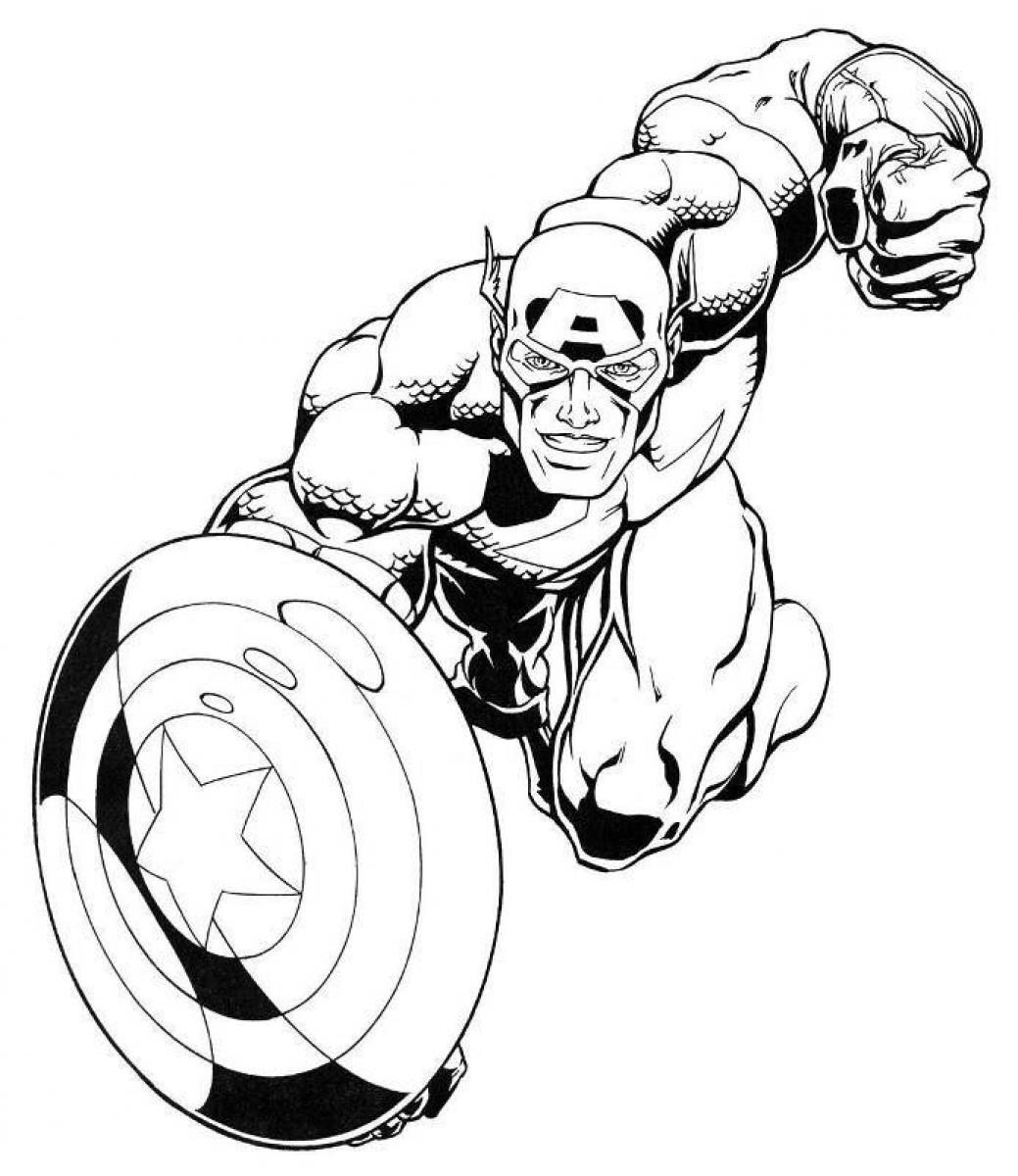 1039x1200 Marvel Captain America Coloring Pages For Kids Super Heroes