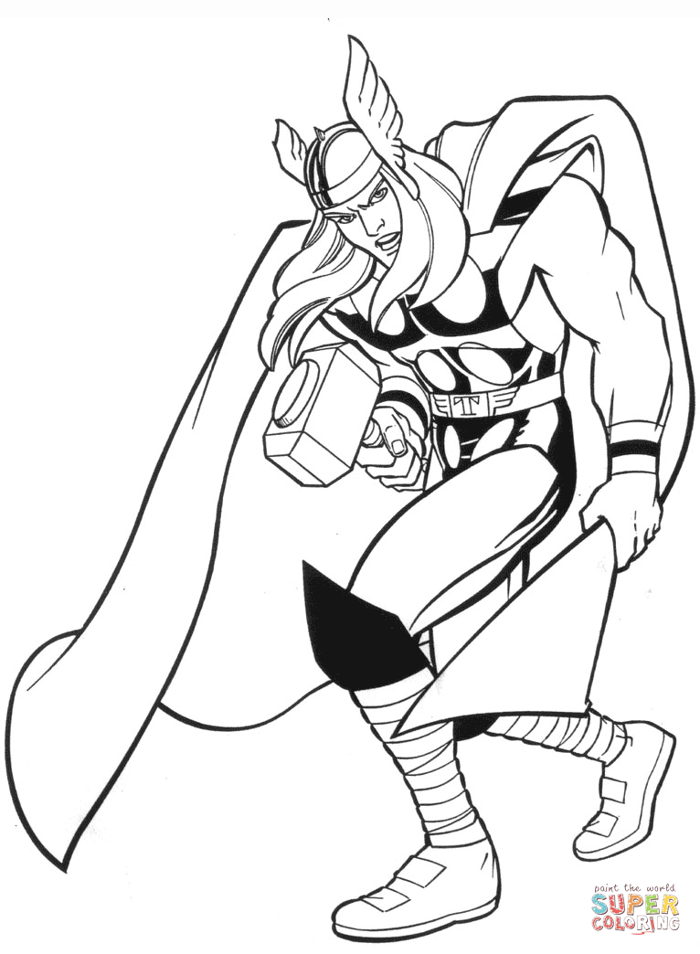 766x1044 Marvel Thor Coloring Page Free Printable Coloring Pages Pilular