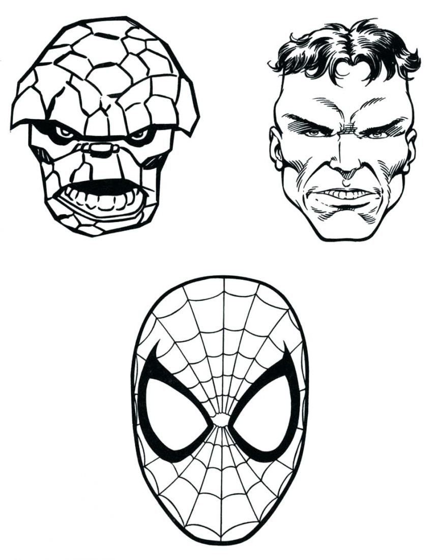 863x1099 Extraordinary Marvel Super Heroes Coloring Pages With Superhero
