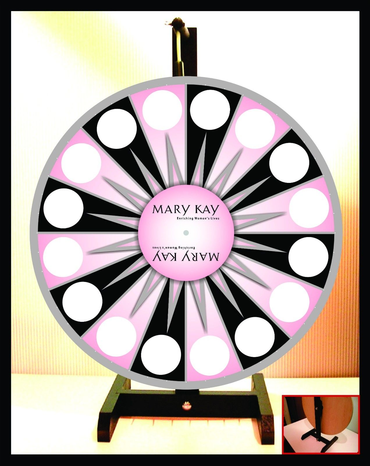 1272x1600 Prize Wheel 18 Spinning Tabletop Portable Mary Kay Ebay