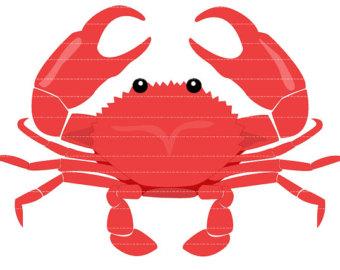 340x270 Crab clip art Etsy