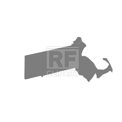 400x400 Maryland state map silhouette Free Vector Clip Art Image