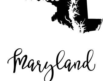 340x270 Maryland state svg Etsy