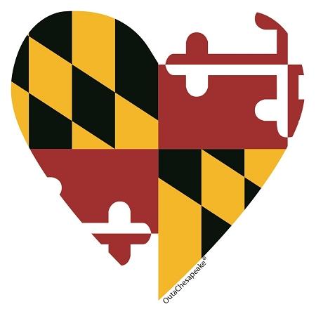 450x450 Outa Chesapeake® Maryland Heart