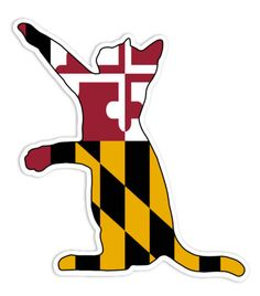 236x268 Cat overlaid with the Maryland flag. I know the image is sideways