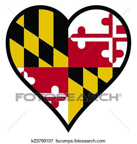 448x470 Clip Art of Love Maryland k23799107