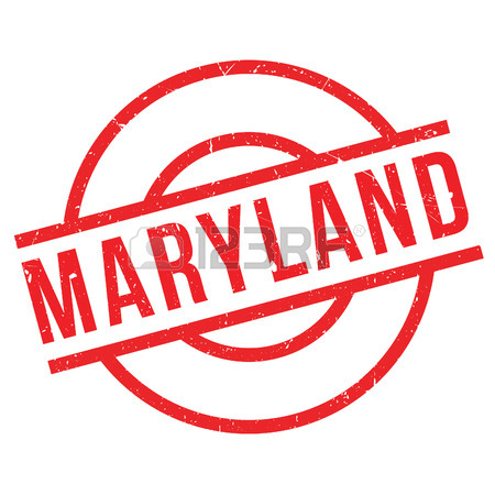 450x450 Maryland Rubber Stamp. Grunge Design With Dust Scratches. Effects