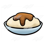 Mashed Potatoes And Gravy Clipart