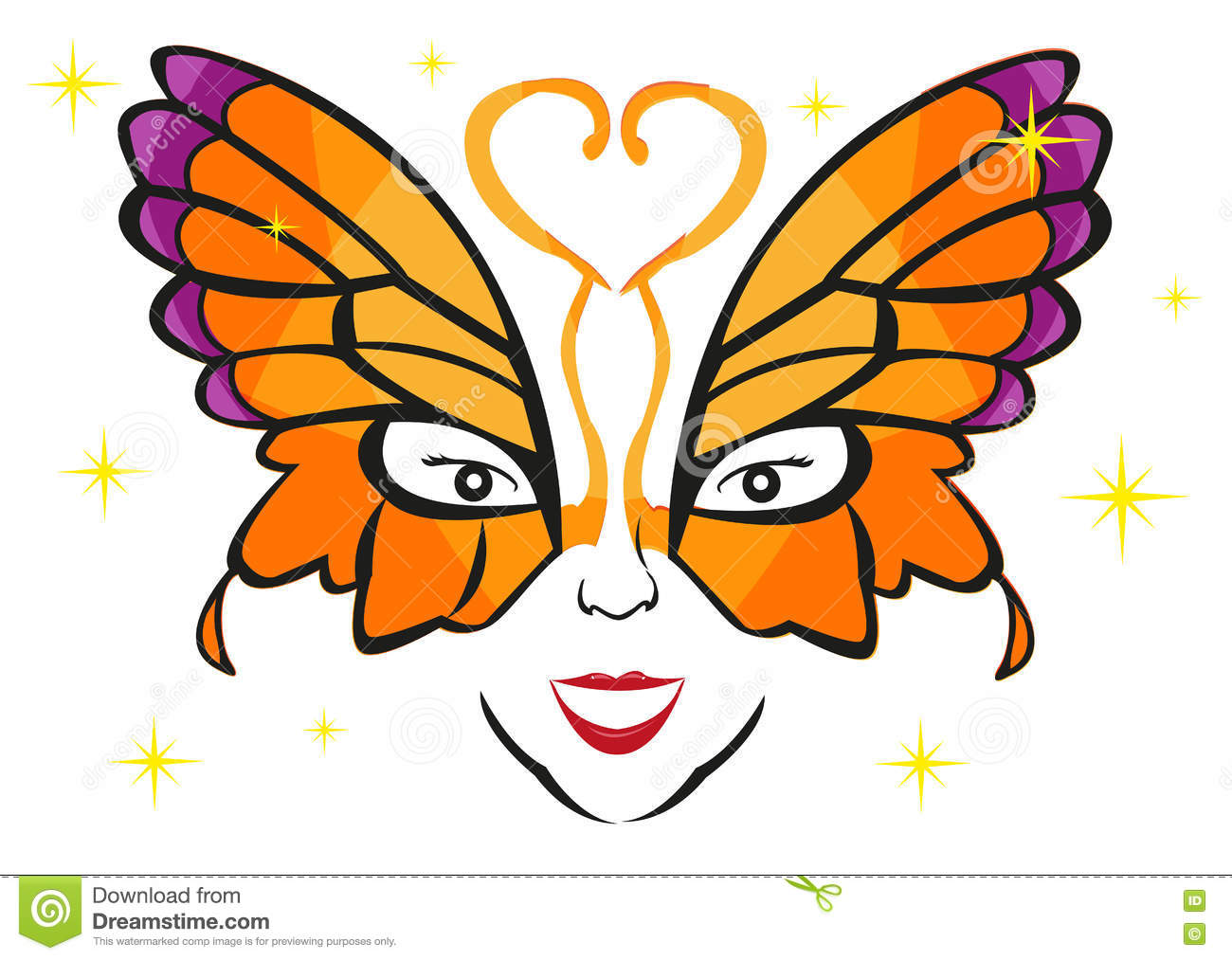 1300x1013 Face Clipart Butterfly