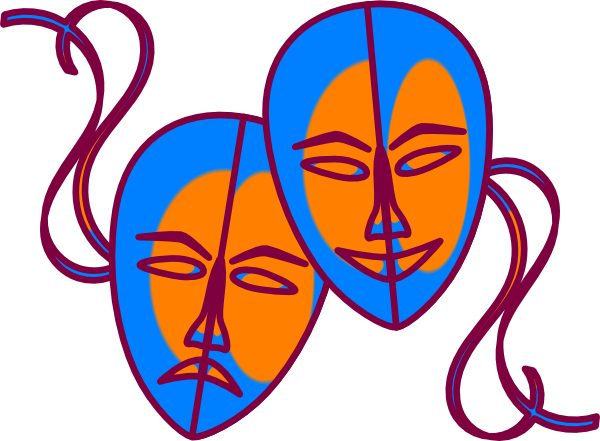 600x441 Mask Clipart Colorful