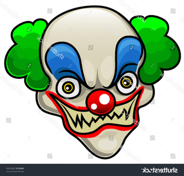 1500x1438 Best 15 Stock Vector Very Detailed Cartoon Halloween Clown Head