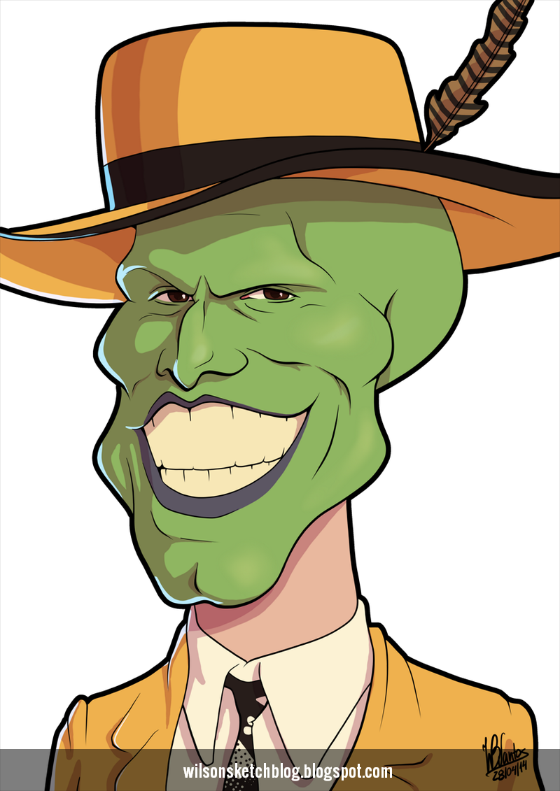 800x1131 The Mask Smiling (Cartoon Caricature)