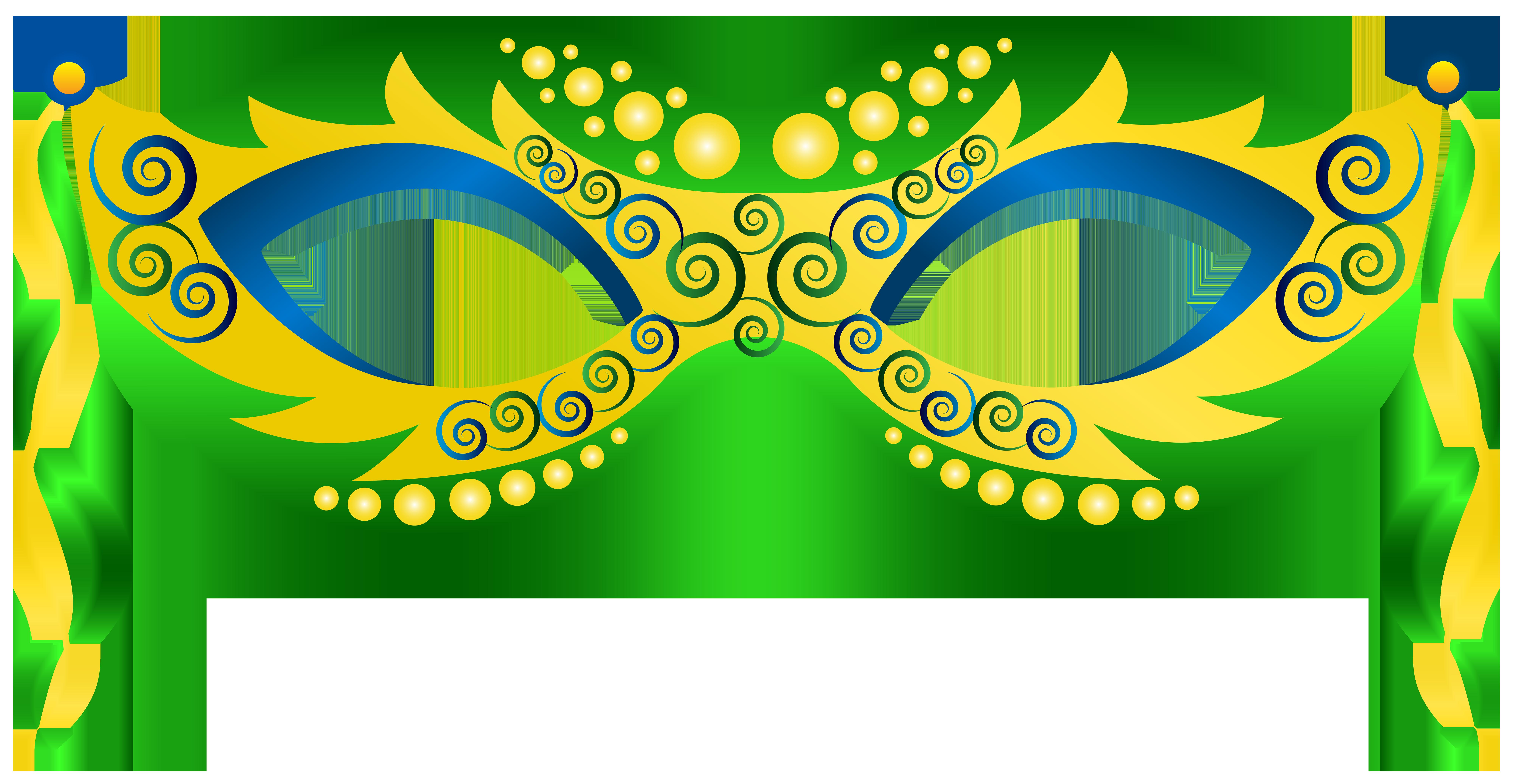 8000x4149 Green Yellow Carnival Mask Png Clip Art Imageu200b Gallery