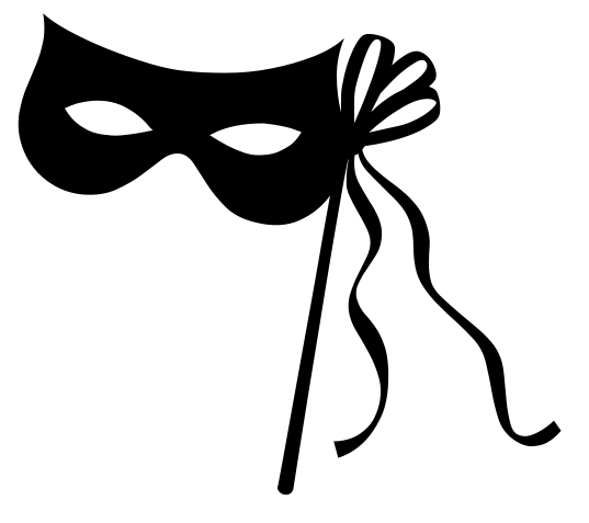 537x477 Masquerade Clipart Black Mask