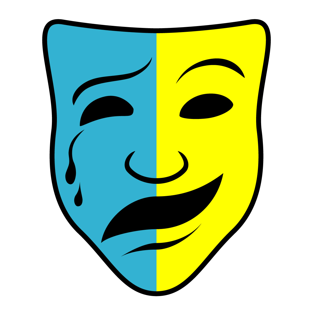 1200x1200 Clipart Comedy Mask Tragedy