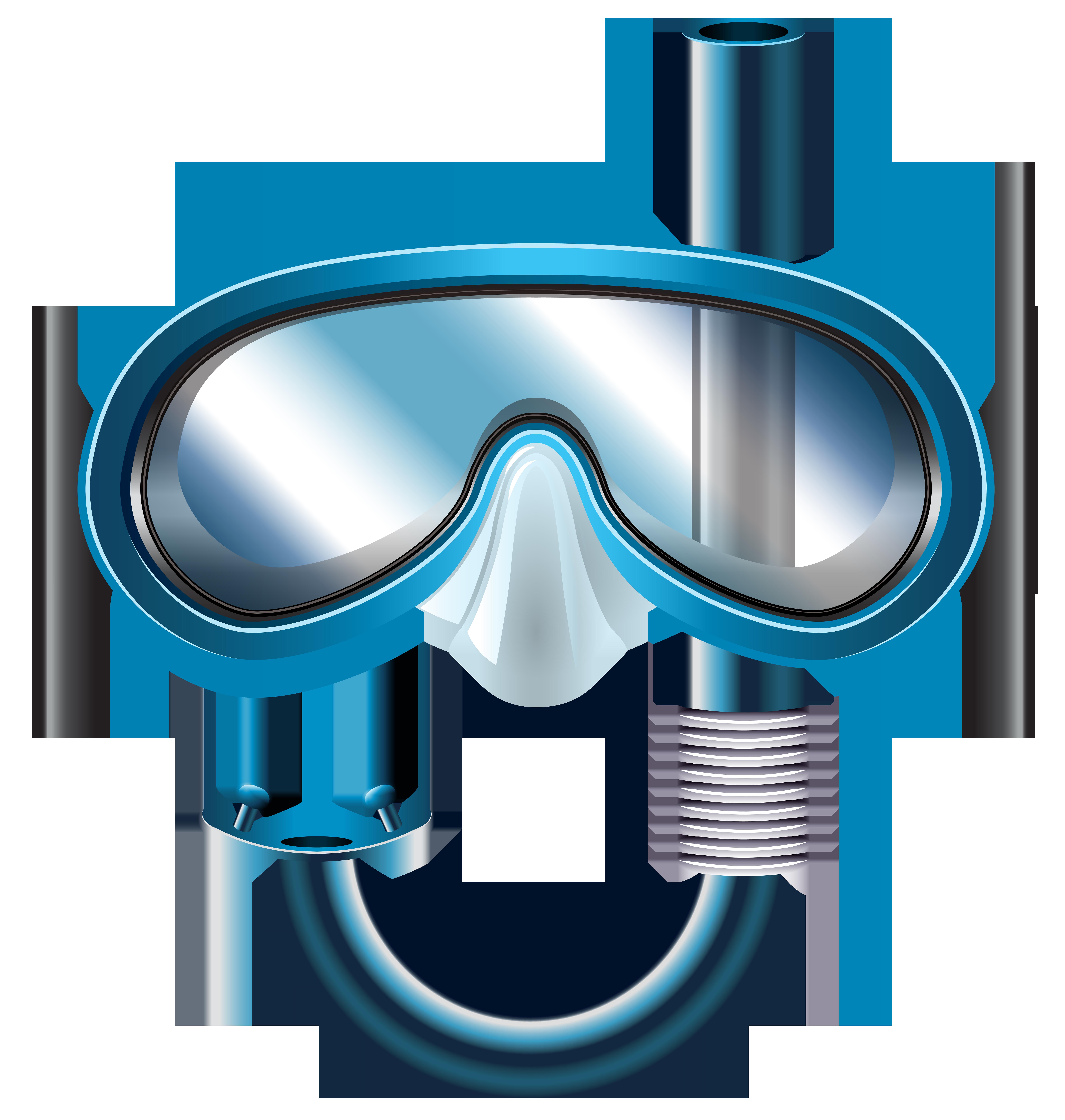 7608x8000 Snorkel Mask Png Clip Art