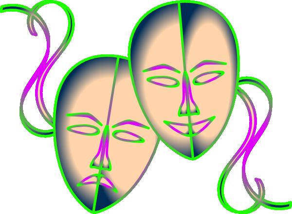 600x441 Theatre Masks Clip Art