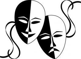 266x195 Theatre Mask Clipart