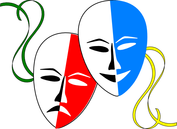 600x440 Theatre Masks Clip Art