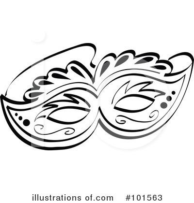 400x420 Clip Art Black And White Mask Clipart