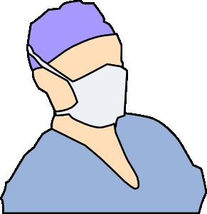 291x300 Doctor Wearing Sanitary Mask Clip Art