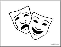 236x183 Drama Masks Clipart