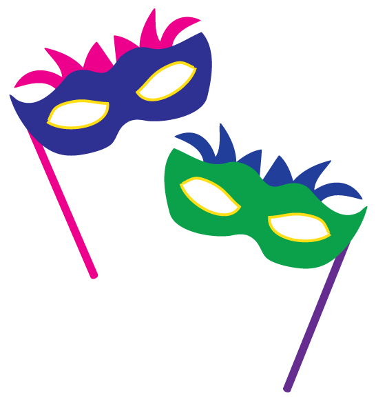546x577 Masks Clipart New Year