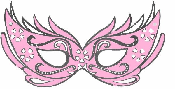 600x307 Masks Clipart Pink
