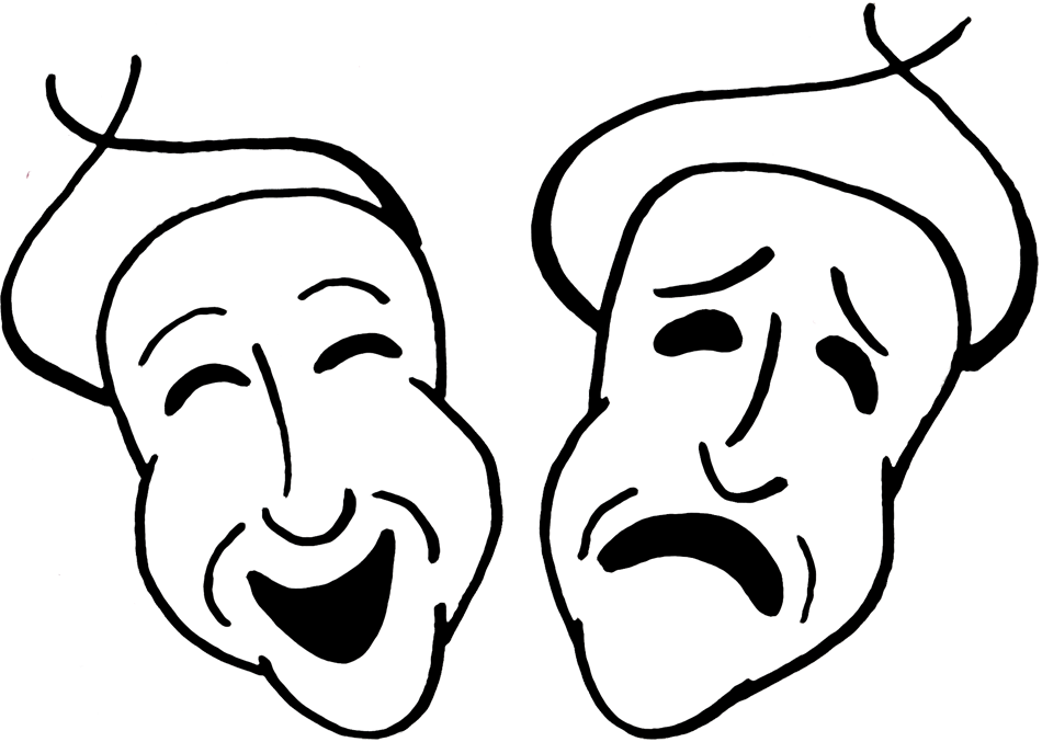 950x677 Masks Clipart Theatre Mask Comedy Tragedy