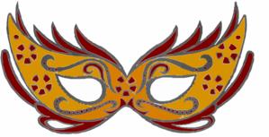 299x153 Masquerade Mask Clip Art