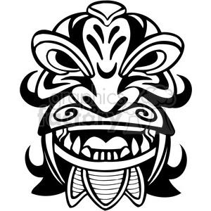 300x300 Royalty Free Ancient Tiki Face Masks Clip Art 008 385849 Vector