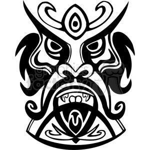300x300 Royalty Free Ancient Tiki Face Masks Clip Art 013 385861 Vector