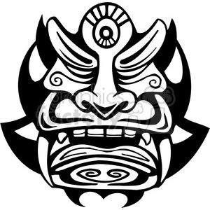 300x300 Royalty Free Ancient Tiki Face Masks Clip Art 034 385846 Vector